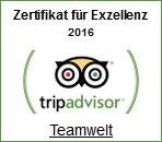"""auch 2016: Tripadvisor """"Exzellenz-Gewinner"""""""