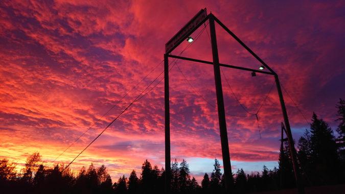 Sonnenuntergang Teamwelt Höchenschwand