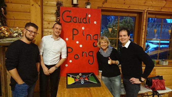 Gaudi Ping-Pong Hüttenabend