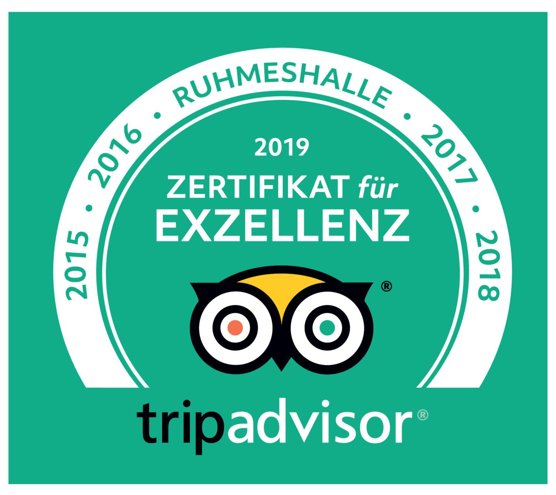 Bewertungs-Auszeichnung für Teamwelt von Tripadvisor